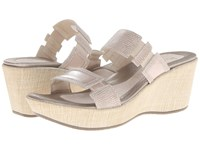 Naot Footwear Treasure Colonial Beige Leather Satin Beige Patent Leather Women's Sandals Silver