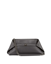 Akris Ai Small Pebbled Leather Pochette Bag