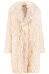 Elizabeth And James Hart Shearling Coat White