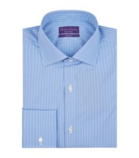 Ralph Lauren Fine Stripe Formal Shirt Male Blue