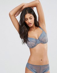 Asos Fuller Bust Ria Basic Lace Mix And Match Underwire Bra Blue