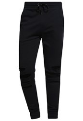Urban Classics Terry Tracksuit Bottoms Black