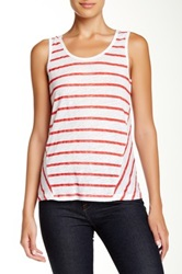 Tommy Bahama Linnea Angled Striped Tank Red