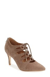 Corso Como Women's 'Cocktail' Lace Up Pump Taupe Suede