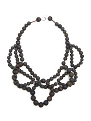 Hring Eftir Hring Double Ballerina Necklace Coal Black