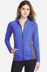 Nydj 'City Sport' Fit Solution Trainer Jacket Blue