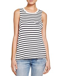 Project Social T Beatrice Pocket Stripe Tank Navy White