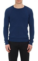 Atm Anthony Thomas Melillo Rib Knit Sweater Blue