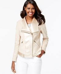 Vakko For Inc International Concepts Faux Leather Moto Jacket Only At Macy's