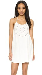 Rory Beca Prine Embroidered Halter Dress Ivory