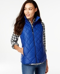 G.H. Bass And Co. Packable Quilted Vest Indigo