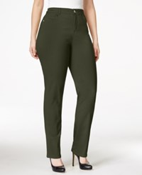Styleandco. Style And Co. Plus Size Tummy Control Slim Leg Jeans Only At Macy's Evening Olive