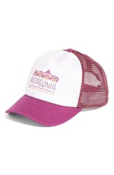 Patagonia Women's Femme Fitz Roy Interstate Trucker Hat Burgundy