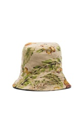 Engineered Garments Cotton Linen Floral Print Bucket Hat In Neutrals Floral