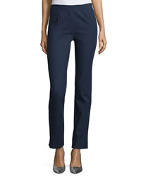 Lela Rose Catherine Slim Leg Ankle Pants Navy Women's