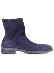 Guidi Stag Reverse Short Back Zip Boot Pink And Purple