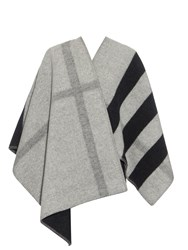 Burberry Wool And Cashmere Blend Reversible Wrap