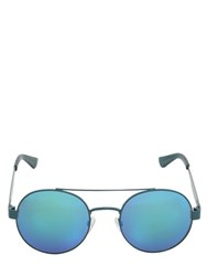 Oxydo Iridescent Lenses Round Metal Sunglasses