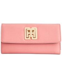 Tommy Hilfiger Th Turnlock Trifold Wallet Coral