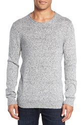 French Connection Men's 'Alfa' Roll Neck Sweater Silver Melange