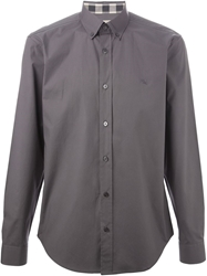 Burberry Brit Button Down Collar Shirt Grey