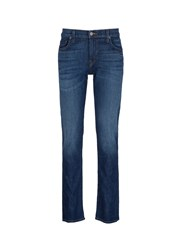 J Brand 'Kane' Straight Fit Cotton Jeans Blue
