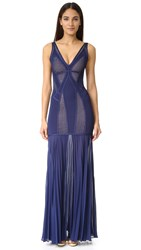 Herve Leger Dasha Gown Classic Blue Combo