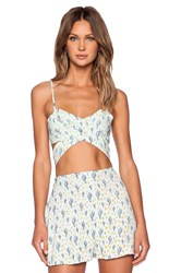 For Love And Lemons Mojavai Crop Top Mint