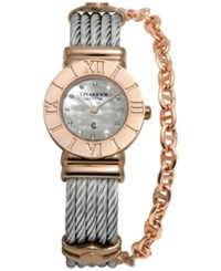 Charriol Women's Swiss St Tropez Two Tone Steel Cable Chain Bracelet Watch 25Mm 028Rp.540.326