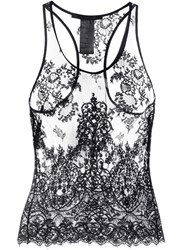 Haider Ackermann Sheer Lace Tank Top Black