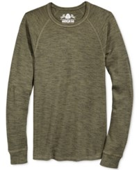 American Rag Men's Space Dyed Thermal Shirt Only At Macy's Olive