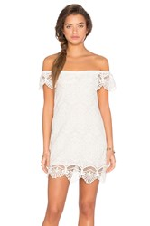 Nightcap Seashell Lace Off Shoulder Dress White