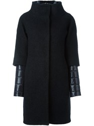 Herno Curly Boucle Coat Black