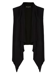 Mela Loves London Sleeveless Waterfall Kimono Black