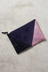 Anthropologie Clare V. Patchwork Pouch Rose