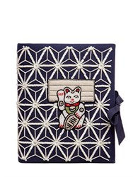 Olympia Le Tan Manekineko Embroidered Note Book Clutch