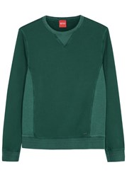 Boss Wheelo Teal Cotton Sweatshirt Dark Green