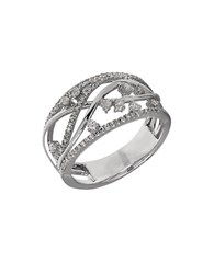 Lord And Taylor Diamond 14K White Gold Abstract Ring