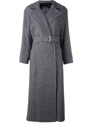 Max Mara Belted Trench Coat Grey