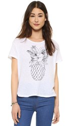 Sundry Pineapple Loose Tee White