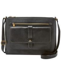 Fossil Kinley Glazed Pebbled Leather Crossbody