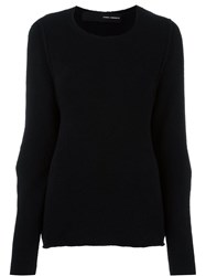 Isabel Benenato Crew Neck Jumper Black