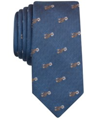 Bar Iii Men's Boot Spurs Print Tie Only At Macy's Periwinkle