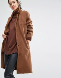 Just Female Levy Coat Brown