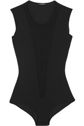 Isabel Marant Adler Stretch Knit And Point D'esprit Bodysuit