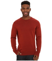 Smartwool Kiva Ridge Crew Moab Rust Heather Men's Long Sleeve Pullover Red