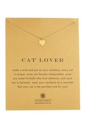 Dogeared 14K Gold Plated Sterling Silver Cat Lover Necklace Metallic