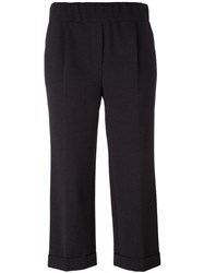 Brunello Cucinelli Wide Leg Cropped Trousers Grey