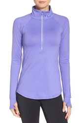 Under Armour Women's 'Layered Up' Water Resistant Half Zip Top Violet Storm Reflective