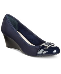 Alfani Women's Step 'N Flex Tomina Wedges Only At Macy's Women's Shoes Navy